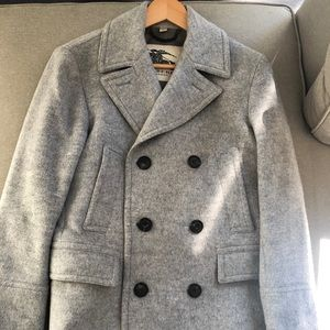 Burberry Men's Wool Jacket Pea Coat (Bateson)